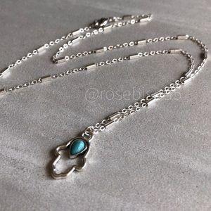 {✨Estrella+Luna🌙} Delicate Silver Hamsa Necklace